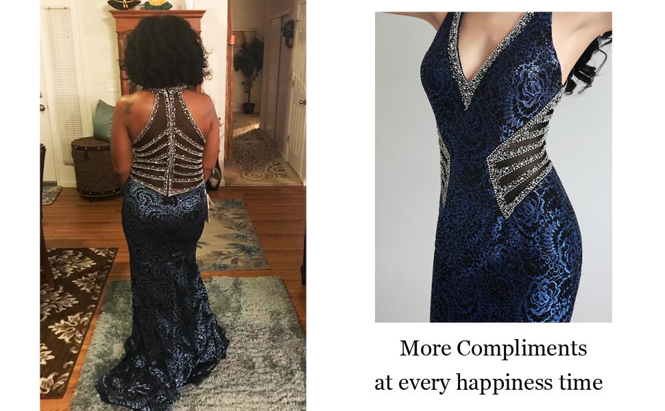 Mermiad Crystal Prom Dress Long 2019