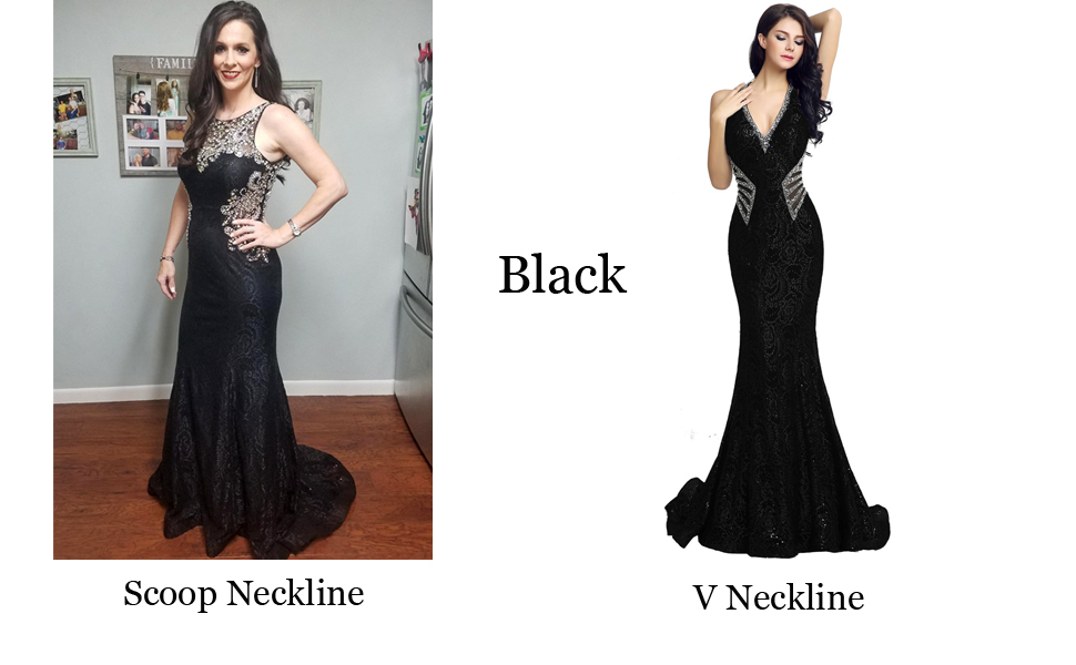 Two Style Black Prom Dress