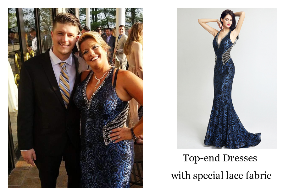 Sexy V Neck Mermiad Pageants Party Gowns