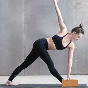 JBM Yoga Block Plus Strap with Metal D-Ring Yoga Brick Cork Yoga Block 6 Colors - High Density EVA Foam Yoga Block to Support and Deepen Poses ...