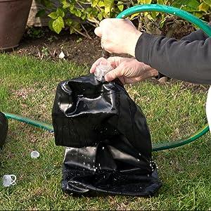 Water weights sandbag filler tube