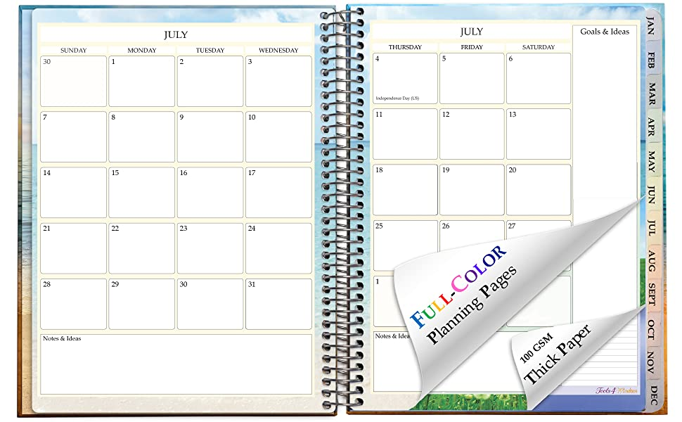 Events Happening In June 2020.Tools4wisdom Planner July 2019 2020 Dated July 2019 June 2020 Calendar 8 5 X 11 Hardcover