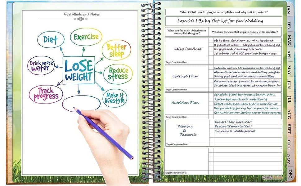 amazon com tools4wisdom daily planner and calendar 8 5 x 11