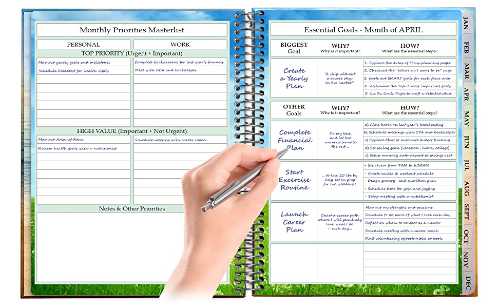 Amazon.com : Tools4Wisdom April 2019-2020 Planner - Daily ...