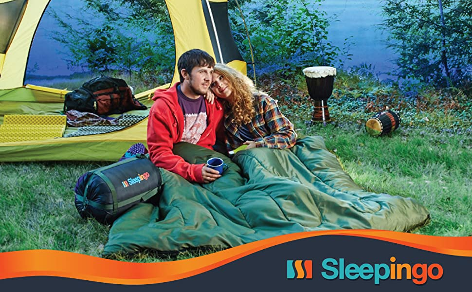 double sleeping bag for adults