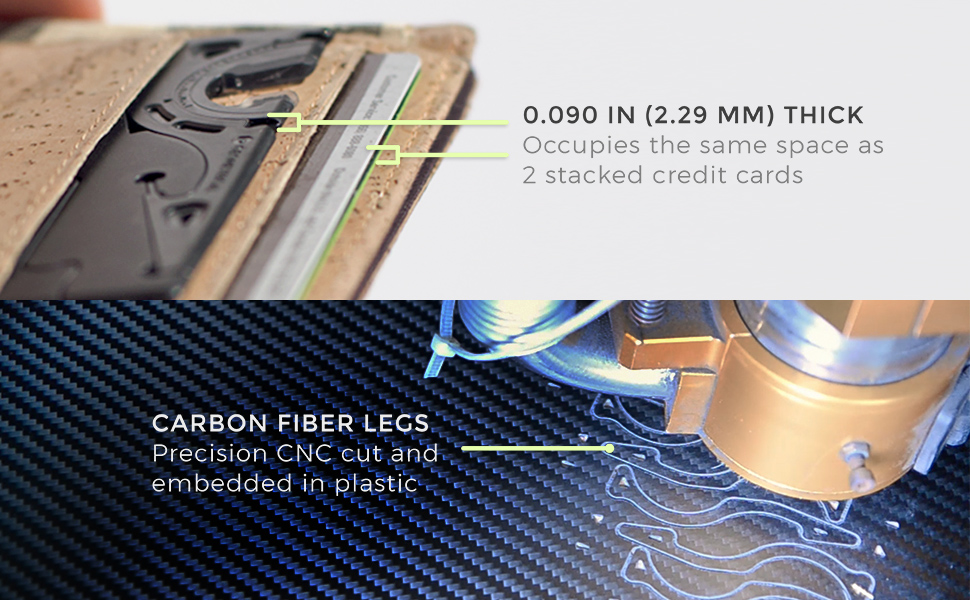 Pocket Tripod PRO Card size carbon fiber cnc cut