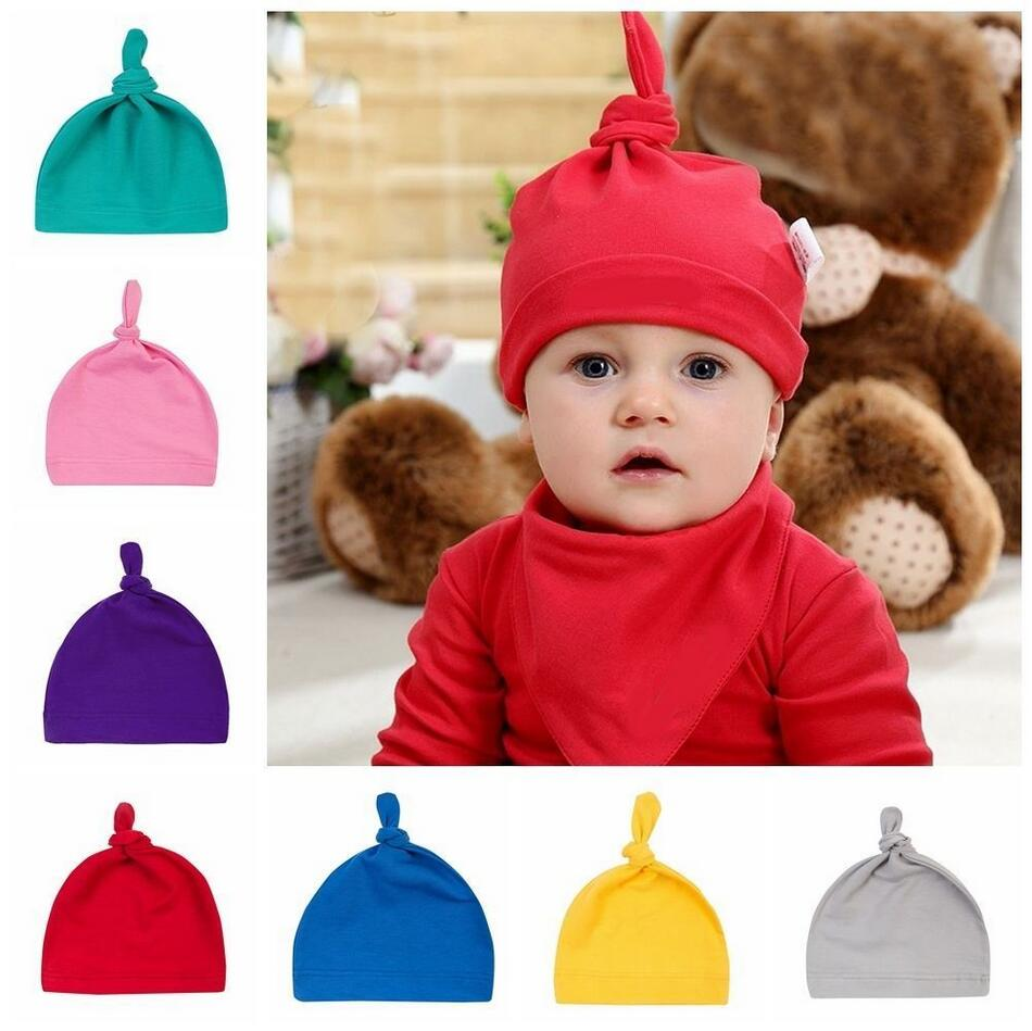 b82a6446b256e Menglihua Unisex Newborn Toddler Infant Cotton Soft Cute Lovely Adjustable  Knot Hat