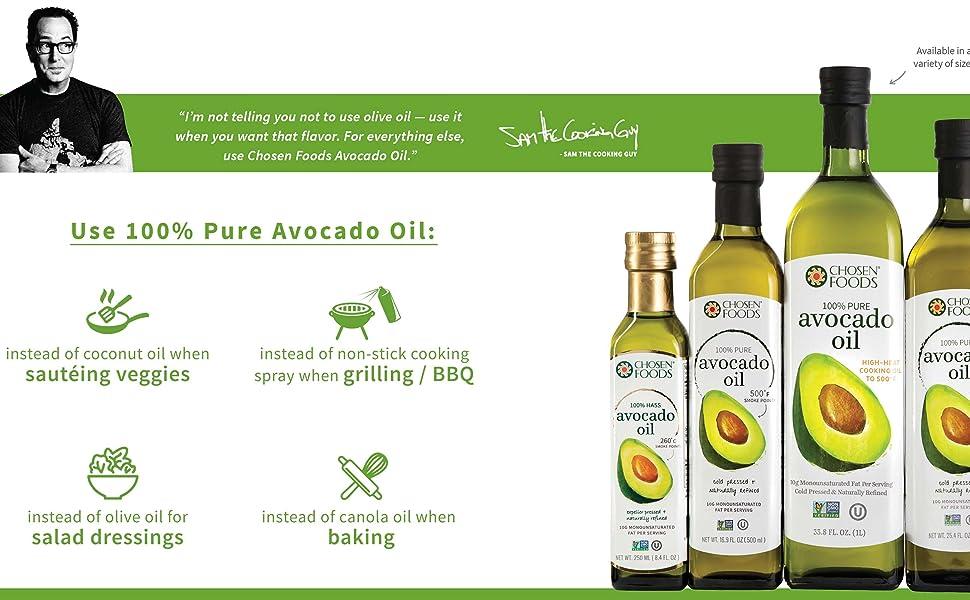 Chosen Foods 100% Pure Avocado Oil Persea americana heart-healthy fats mufas monounsaturated