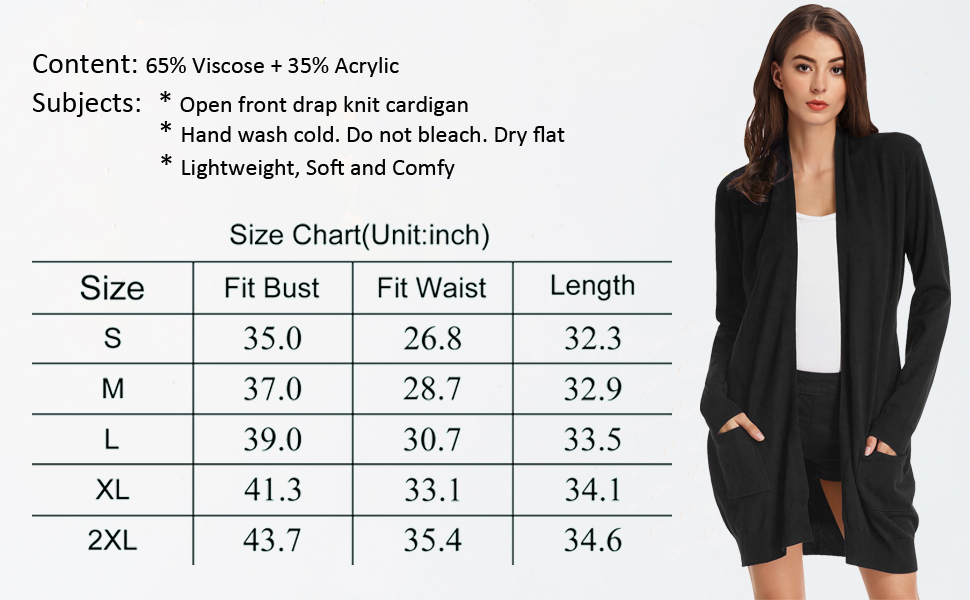 open front knit cardigan with pocket