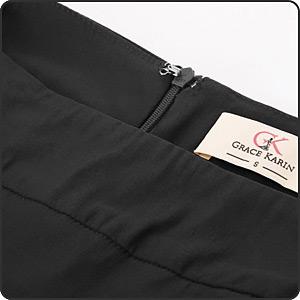 elastic waist pencil skirt