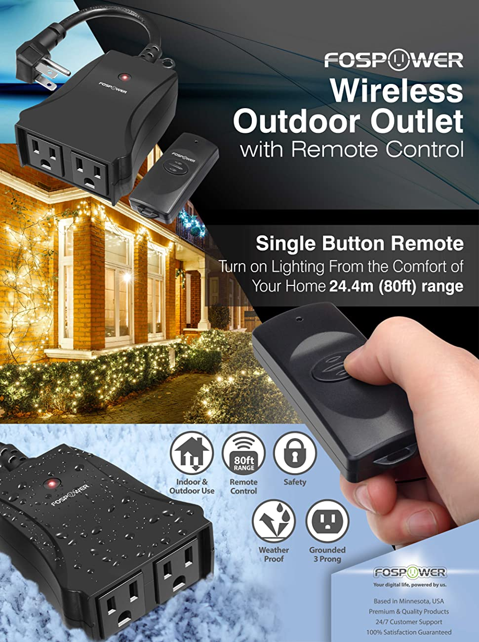 Amazon.com: Wireless Remote Control Outlet, FosPower [2 Outlets ...