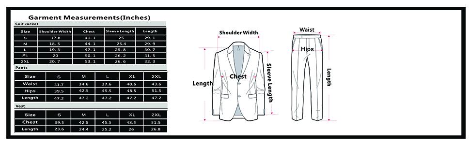 b2d47ca70d6 PAUL JONES Men's Slim Fit One Button 3-Piece Dress Suit Blazer Coat ...