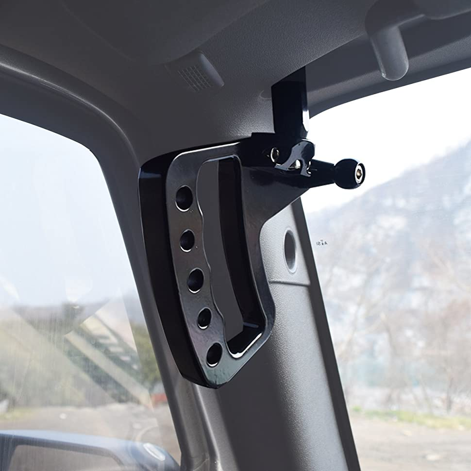 Good ICARS New Style Front Black Aluminum Grab Handle For Jeep Wrangler JK 07 17  2 Door 4 Door