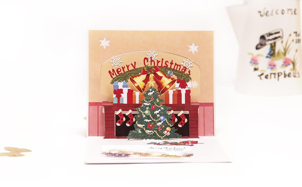 Amazon.com: Paper Spiritz Pop Up Christmas Cards - 3D Holiday ...