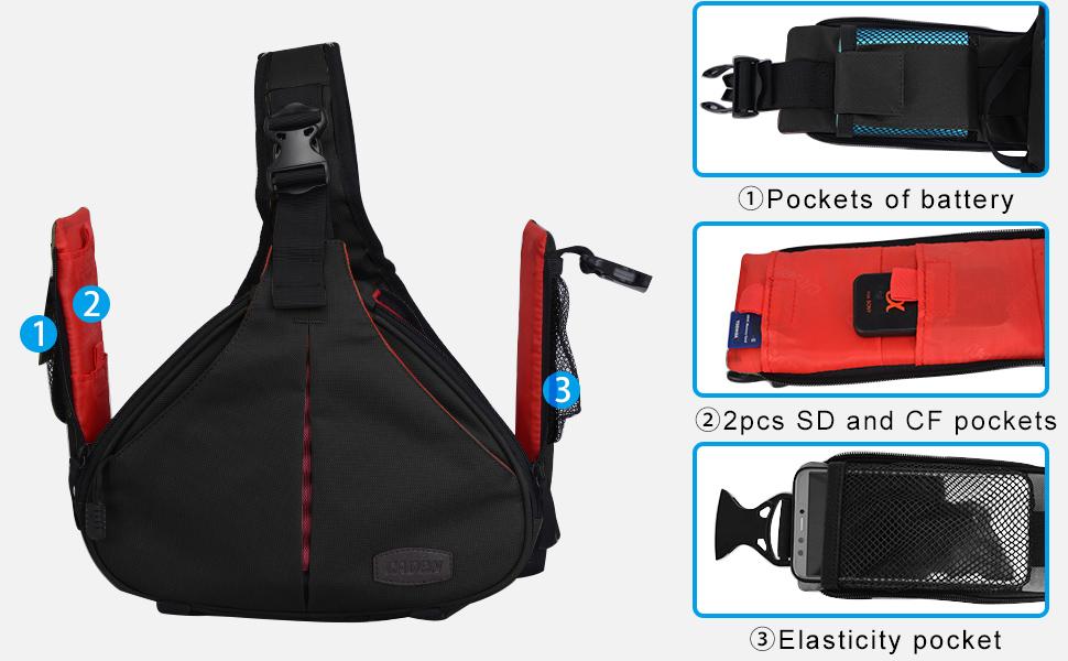 Amazon.com: Caden, bolsa triangular con tira cruzada para ...