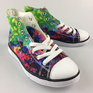 e1856cc9fe8 Amazon.com  FOR U DESIGNS Fashion Galaxy Print High Top Lace Up ...