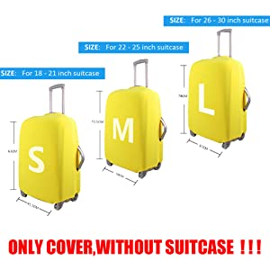 0704ad9eabc8 FOR U DESIGNS 18/20/22/24/26/28/30 Inch Personalized Flag Spandex Travel  Luggager Covers