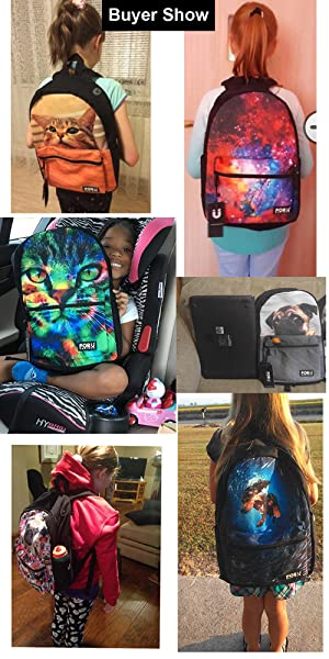 Lightweight Backpack for Students Butterfly Carnival Unisex Casual Daypack Elementary School Bags Printing Travel Laptop Bag