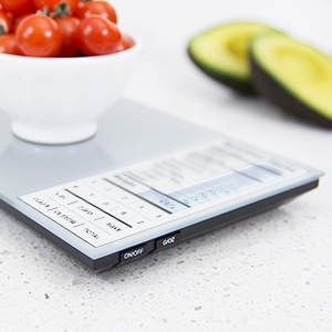 Greater Goods Nourish Digital Kitchen Scale, Food Scale with (New Backlit) Nutritional Facts Display