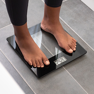Digital Bathroom Scale Weight Scales by Greater Goods, Bathroom Scales, High Accuracy (Clear