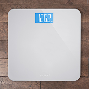 Digital Body Weight Bathroom Scale by GreaterGoods, Large Glass Top, Backlit Display, Precise