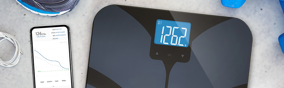 GreaterGoods Bluetooth Connected Body Fat Bathroom Smart Scale