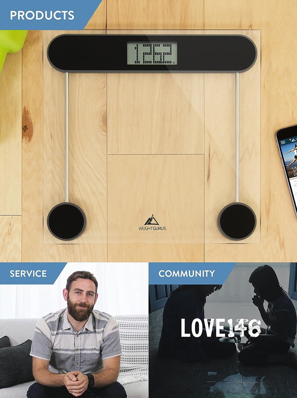 Amazon Com Weight Gurus Digital Bathroom Scale Large