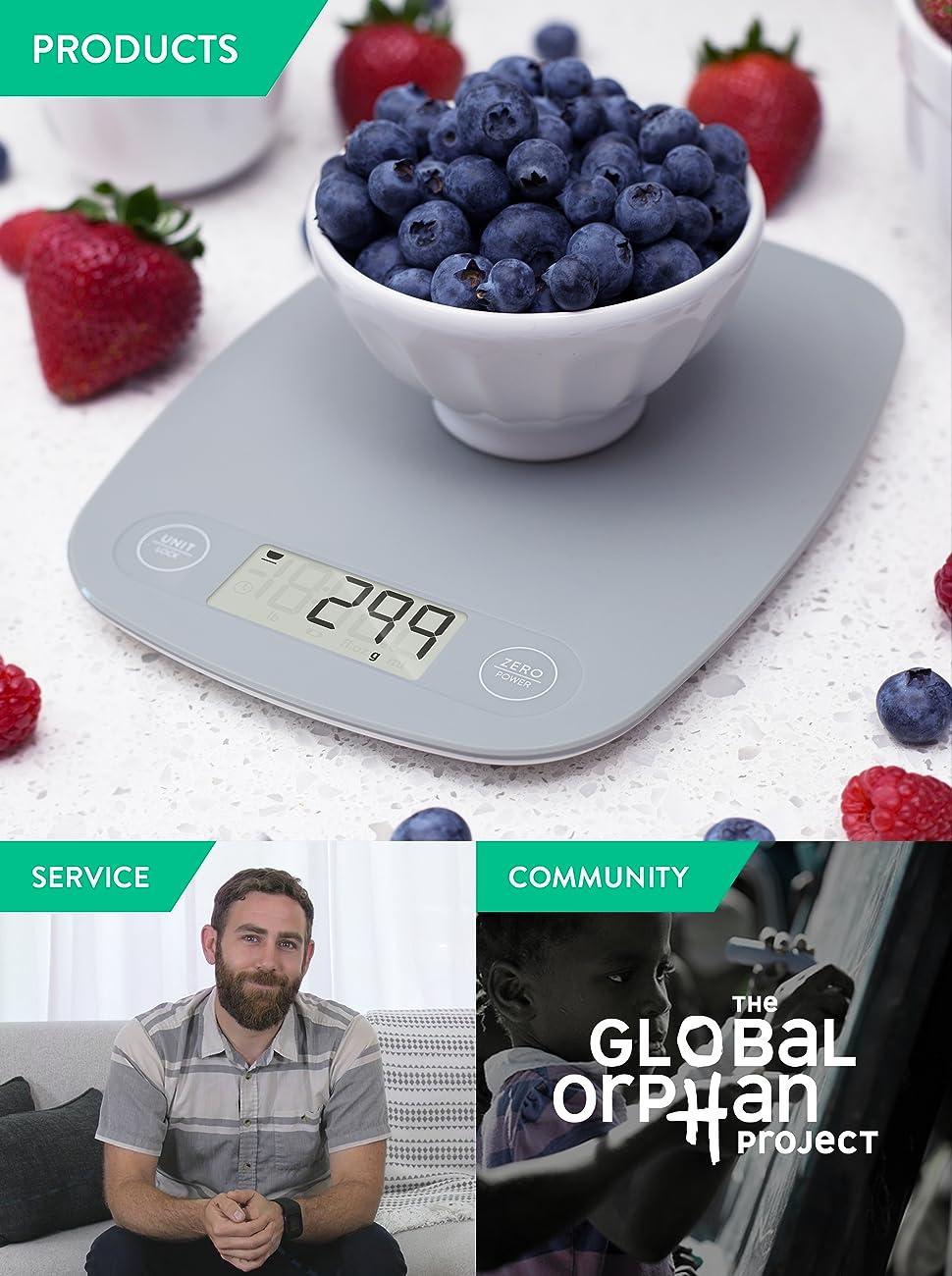Amazon.com: Digital Kitchen Scale/Food Scale - Ultra Slim ...