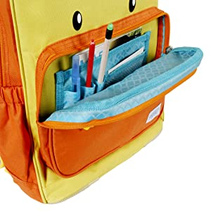 ORGANIZER PENCIL CASE ROOMY COMPARTMENT SIZE CUTE ADORABLE ANIMAL BACKPACK