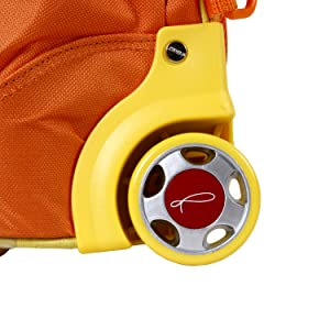 STRONG WHEELS, TWISE ROLLING BACKPACK, KIDS COLLECTION FUN CUTE ADORABLE DURABLE