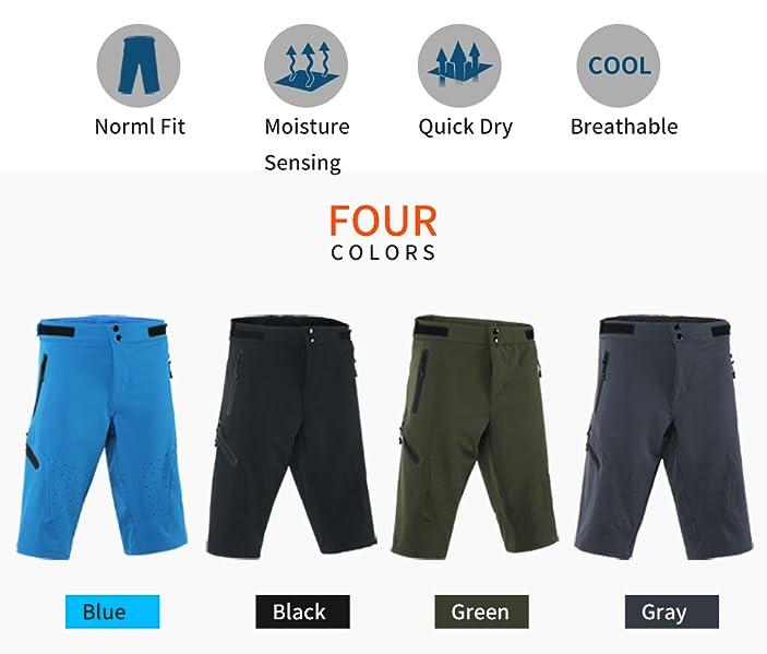 4841a41d0 Amazon.com  ARSUXEO Outdoor Sports Men s MTB Cycling Shorts Mountain ...