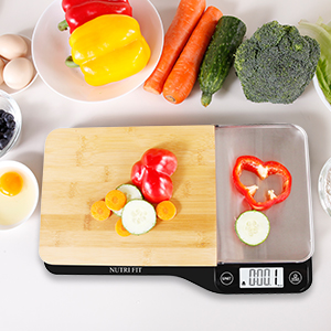 cutting board with food plastic features package list amazoncom food scale with removable cutting board tray in