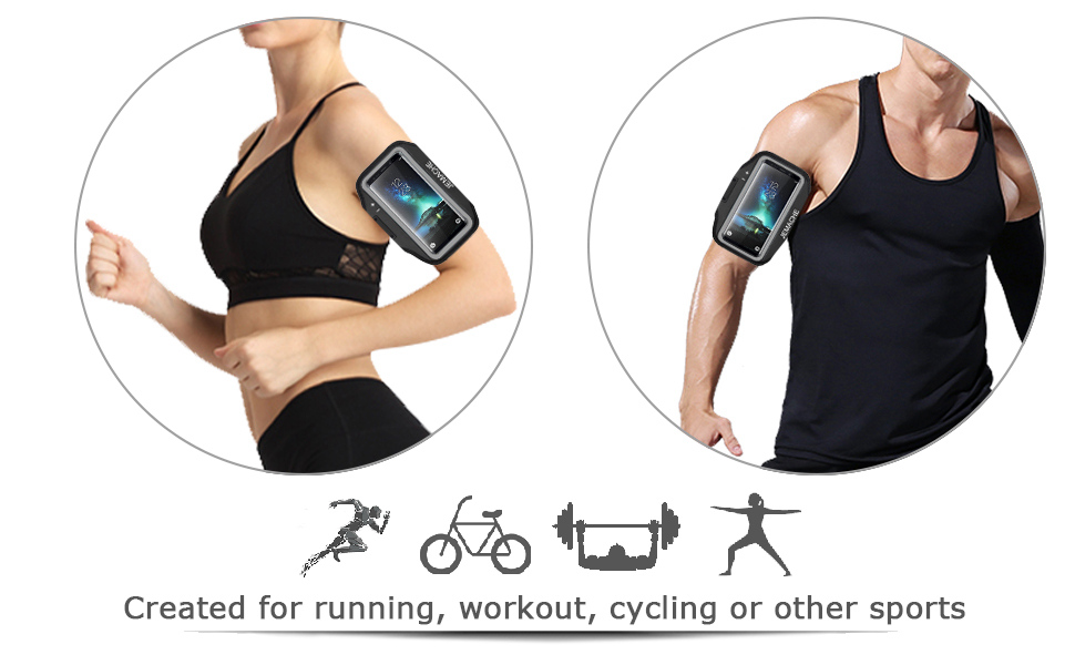 JEMACHE Gym Running/Exercises/Workouts Armband for Samsung Galaxy S9/S8/S7 Edge/S6