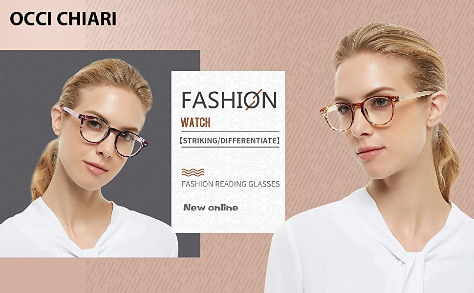 3f3e6626f4 Amazon.com  OCCI CHIARI Lightweight Designer Acetate frame Stylish ...