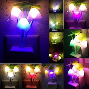 mushroom night light color changing lamp bed light lamps for bedrooms living room