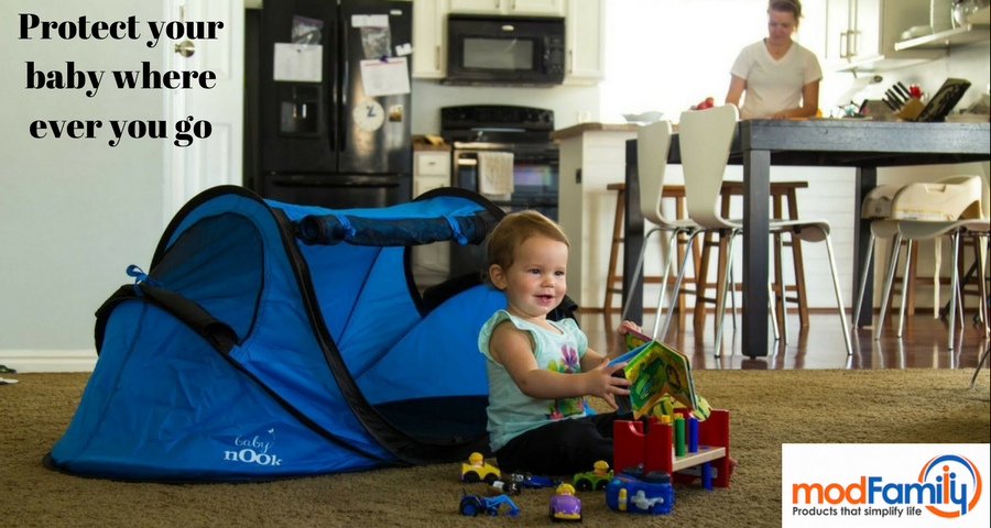 When you go out for some fun how do you protect your baby from sun wind and biting bugs? Baby Nook provides shelter with a comfortable mat to keep your ...  sc 1 st  Amazon.com & Amazon.com : Baby Nook Travel Bed and Beach Tent (blue) Provides ...