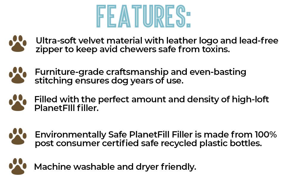 ultra soft velvet material leather logo lead free zipper machine washable safe
