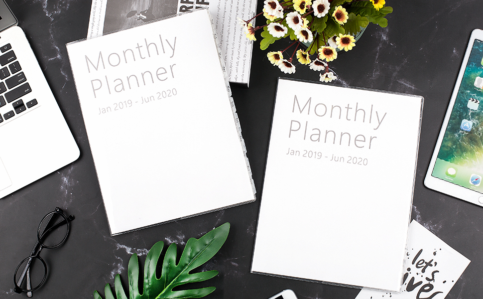Utd Academic Calendar Spring 2020.2019 2020 Monthly Planner Academic Planner 18 Month January 2019 8 X 11 Clear Cover Diy Tabs 13 Page Notes Holidays Thick Paper