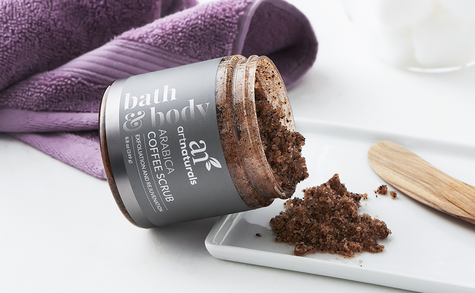 coffee body and facial face scrub