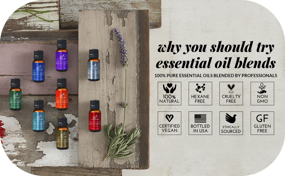 blended essential oil pure natural organic blends