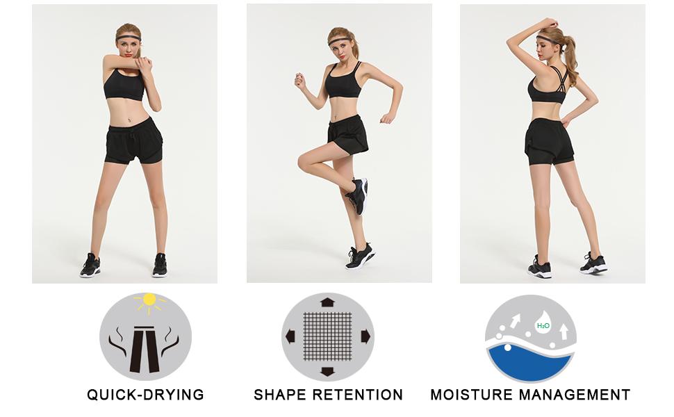 Amazon.com: La Gemelos Dream pantalones cortos de running ...