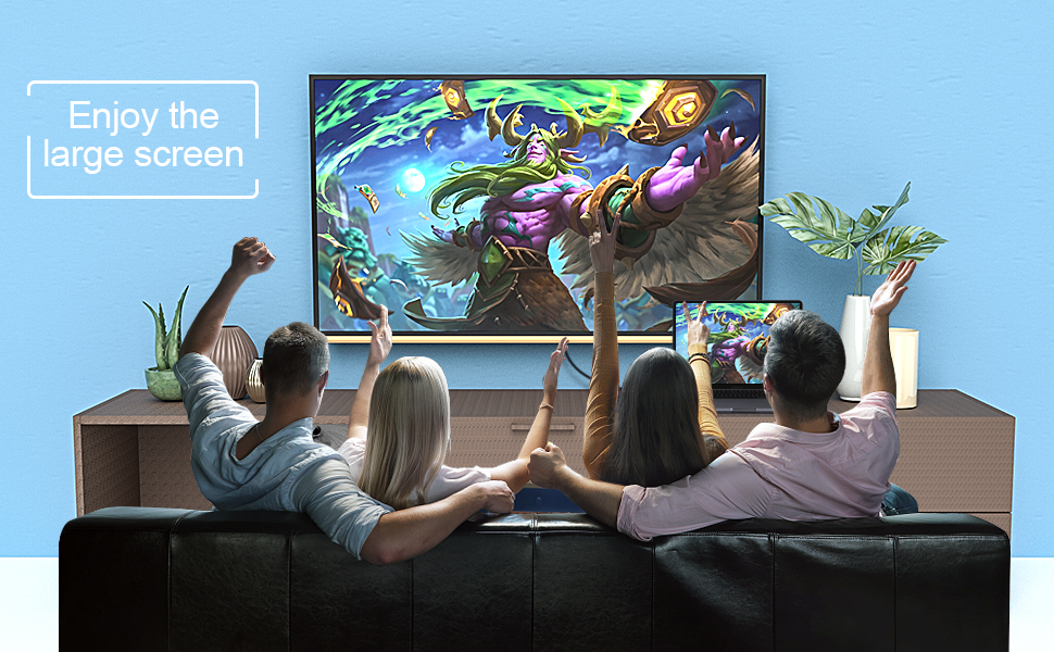 Enjoy the large screen with your family