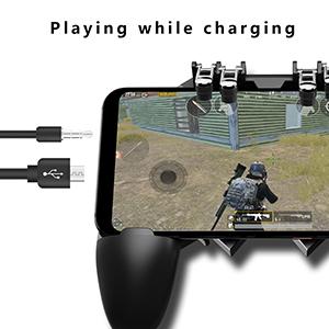 Porcyco PUBG Android control sensible Mando de juegos para m/óvil disparadores de tel/éfono m/óvil iPad para tablet Gamepads iOS tel/éfono 1 par