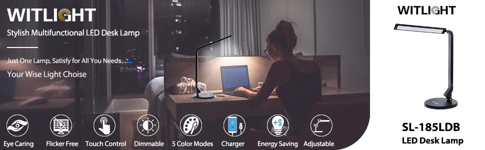 stylish multi-functional led desk lamp