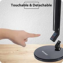 portable desk lamp touch control