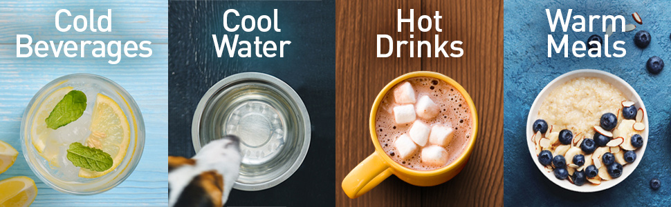 hot, cool, cold, water, meals