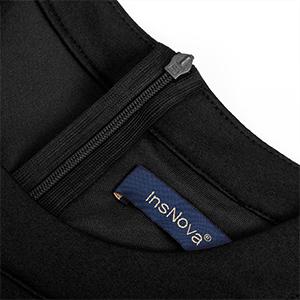 hidden back zipper