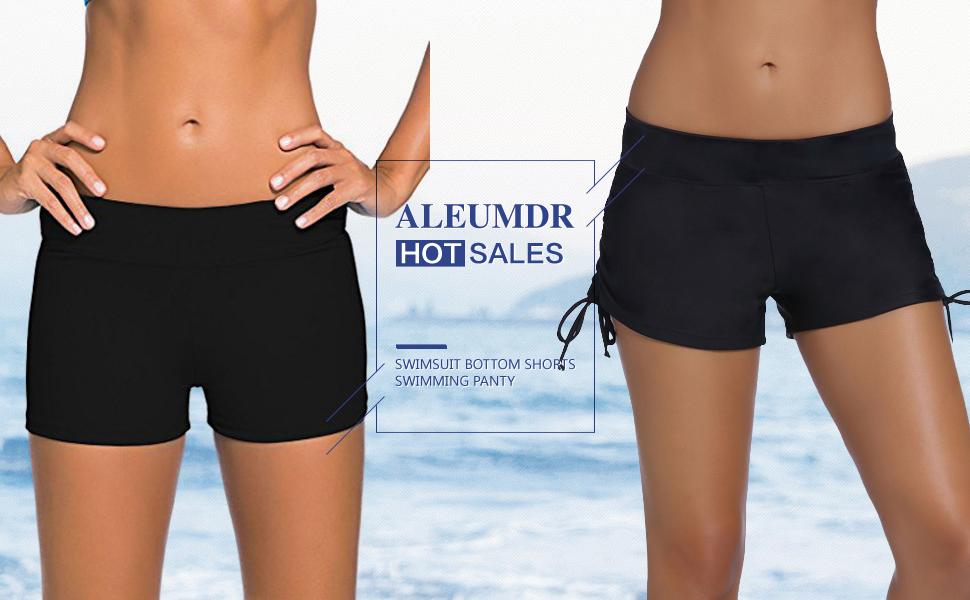 66442ed106 Aleumdr Women's Wide Waistband Swimsuit Bottom Shorts Swimming Panty ...