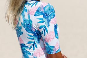 Aleumdr Womens Zip Front Printed Half Sleeve/Long Sleeve