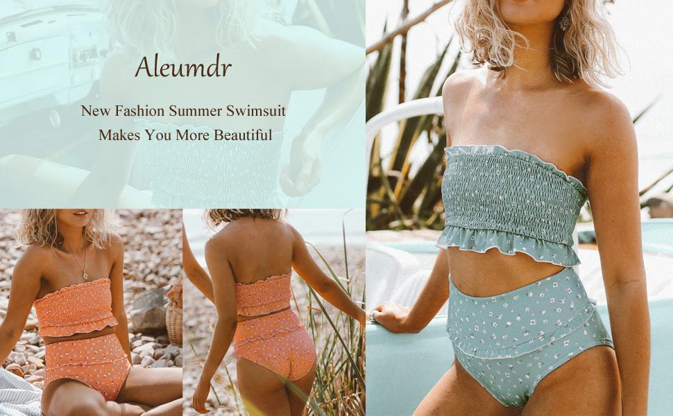 a3f0b41d34f61 ... Bandeau Bikini Swimsuits Off Shoulder High Waist Bathing Suit. BIKINI